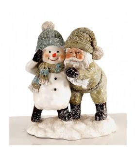 Père Noël avec Bonhomme de Neige - Hiver 2019 - Déco Noël