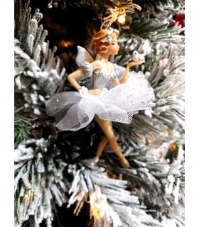 Féé Danseuse avec Oiseau sur la Main - Sujet De Noël - Livraison partout en France : Brest, Saint-Malo, Lorient, Vannes