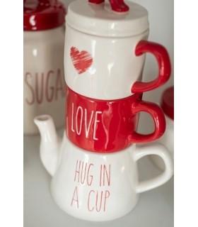Thé pour 2 Love Rouge Blanc - Amour - Idée cadeau Noël pour couple - www.boutique-sauvage.com