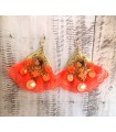 Boucles D'Oreilles Indienne Orange - Bijoux