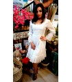 Robe Femme Blanche Marilyn - Classic Chic