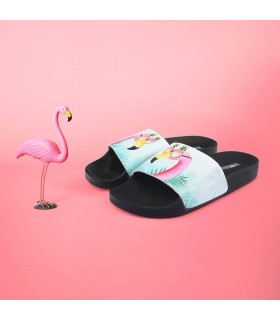 Claquette Enfant Flamant Rose - The White Brand - www.boutique-sauvage.com