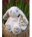 Petite Lapine Flora Blanche - Magasin Peluches