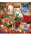 Serviettes L'Atelier Du Père Noël - Décoration Table de Noël