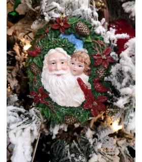 Sujet Père Noël Enfant Noël - Sujet de Noël - Magasin Noël - Livraison partout en France : Bastia, Ajaccio, Bonifacio, Propriano