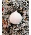 Boule de Noël Blanche Pailletée Argent - Sujet de Noël
