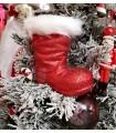 Botte Rouge Glitter - Décoration de Noël