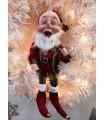 "Grand Lutin "" Elf "" Rouge et Vert - Décoration de Noël"