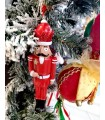 Sujet Soldat Rouge Blanc - Sujet de Noël