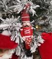 Sujet Soldat Tambour Rouge Blanc - Sujet de Noël