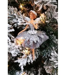 Sujet Fée Danseuse Argentée - Décoration - Boutique de Noël - Livraison partout en France : Béziers, Sète, Montpellier, Narbonne